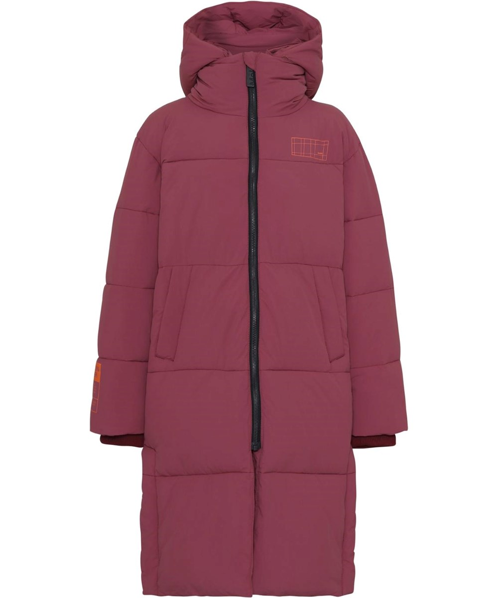 Harper - Maroon - Recycled bordeaux down coat