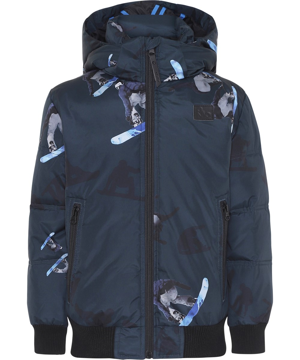 Harpo - Sequences - Dark blue winter jacket with snowboarders.