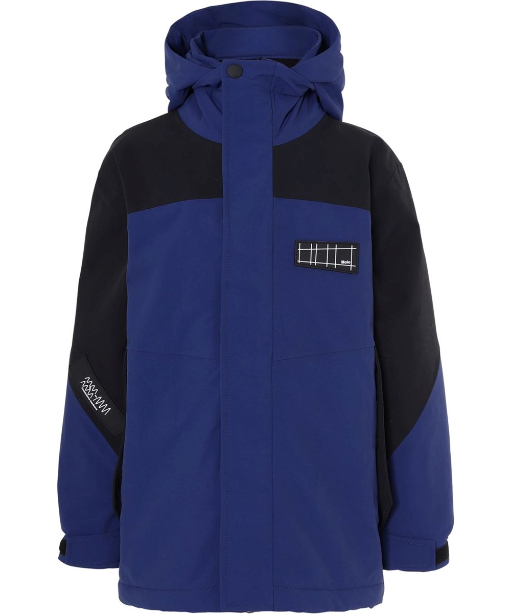 Harrison Recycle - Ink Blue - Recycled blue winter jacket with black