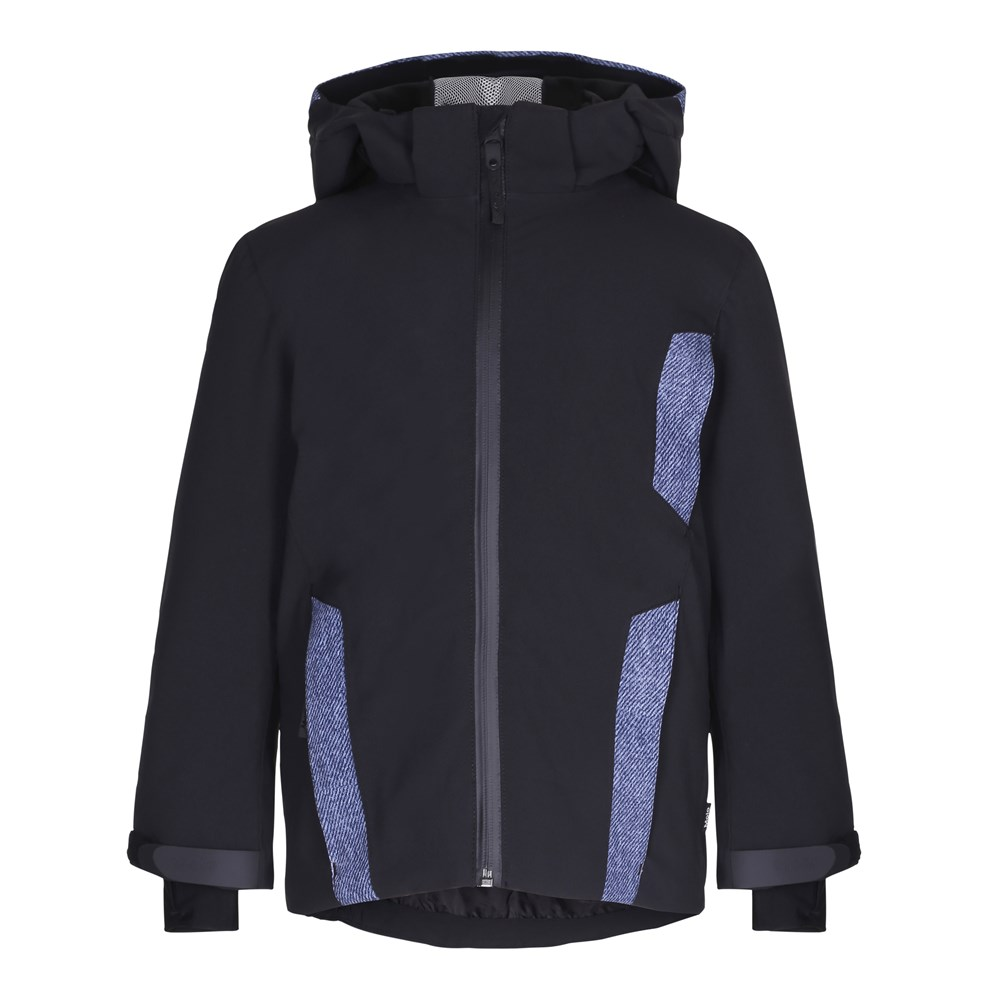 Hassel - Denim - Black ski jacket with digital denim print details