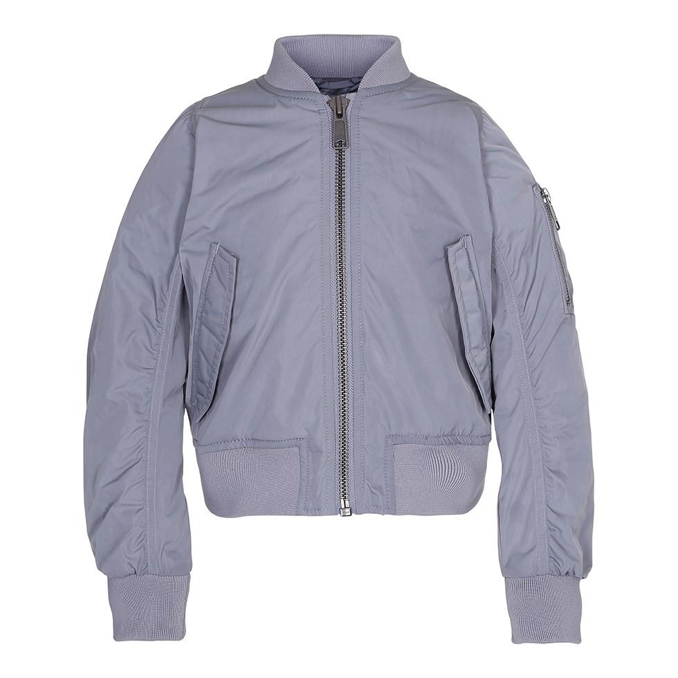 Haylee - Alloy - Grey bomber jacket