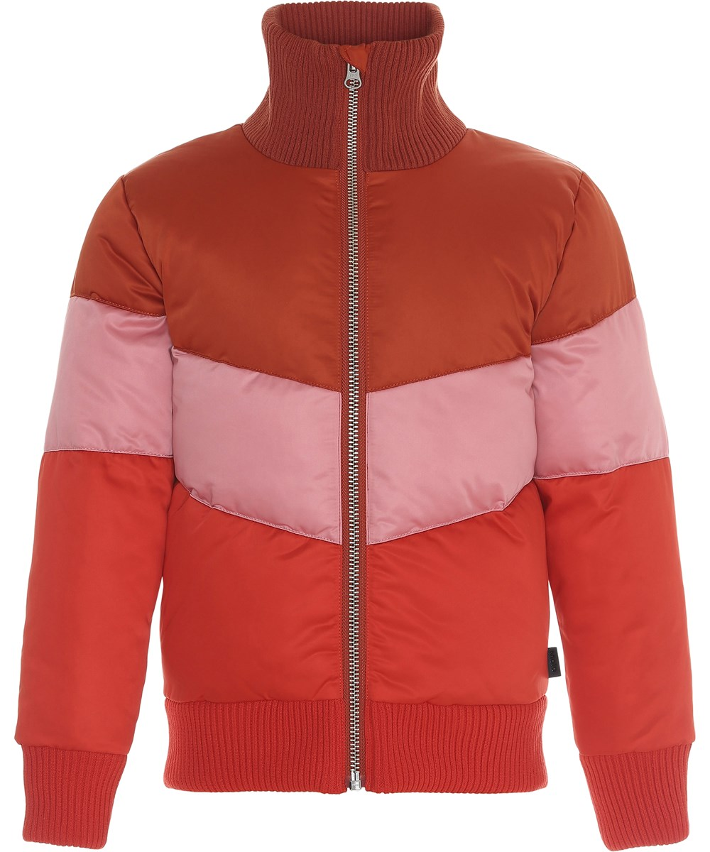 Hedia - Rooibos - Three colour winter jacket.
