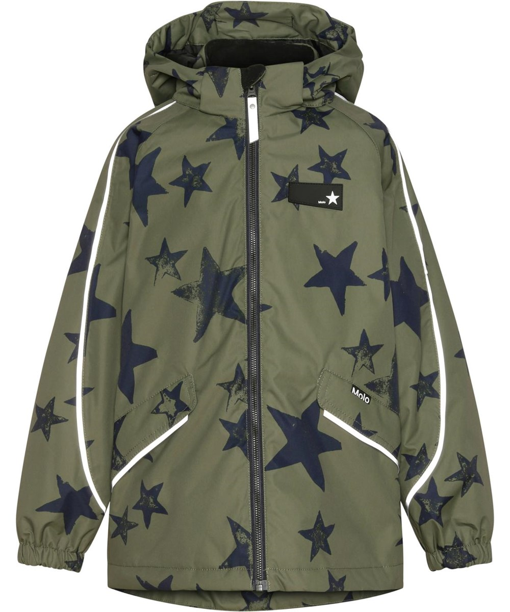 Heiko - Carbon Star - Recycled unisex jacket with star print