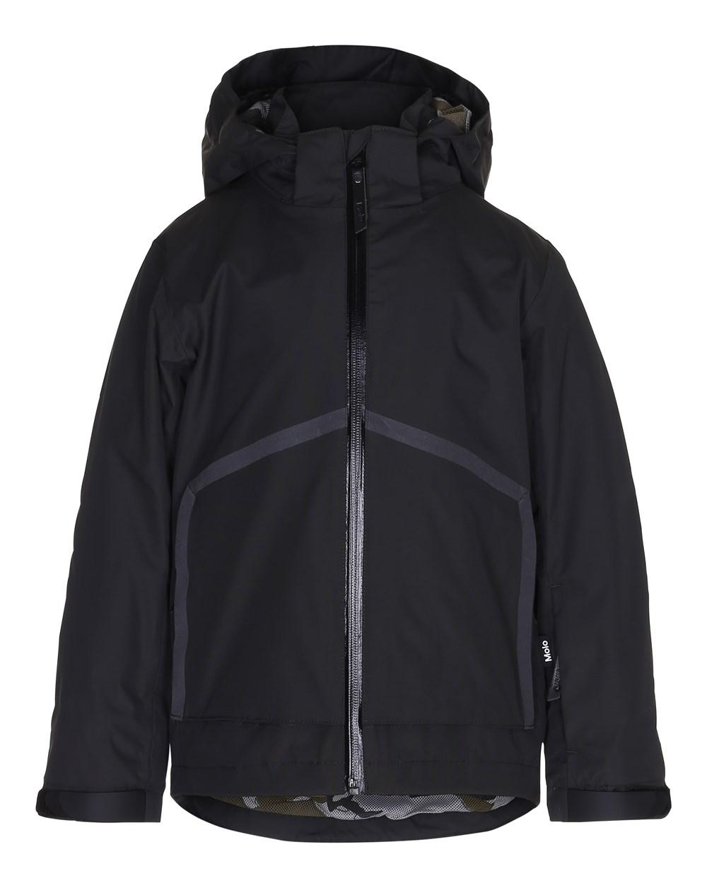 Helium - Pirate Black - Black jacket with printed lining