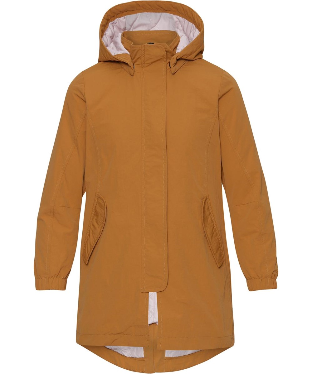 Helma - Honey - Golden, lightweight parka jacket