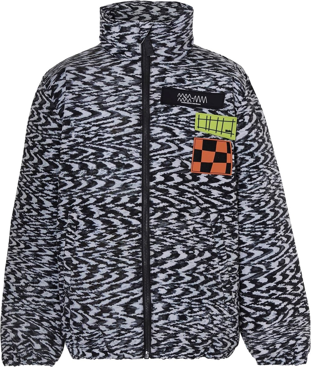 Helmuth - Interference - Recycled black and white print winter jacket