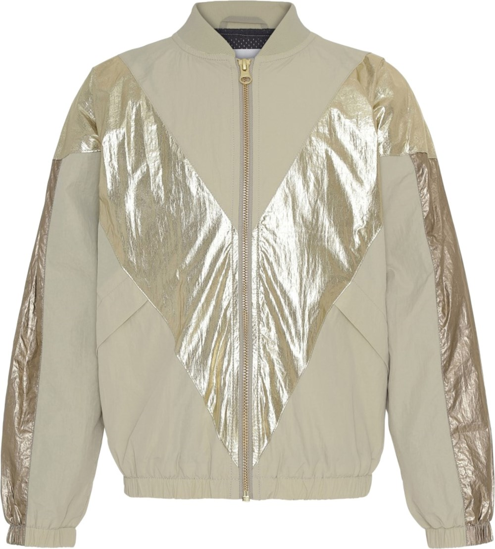 Helsa - Bamboo - Beige jacket with gold