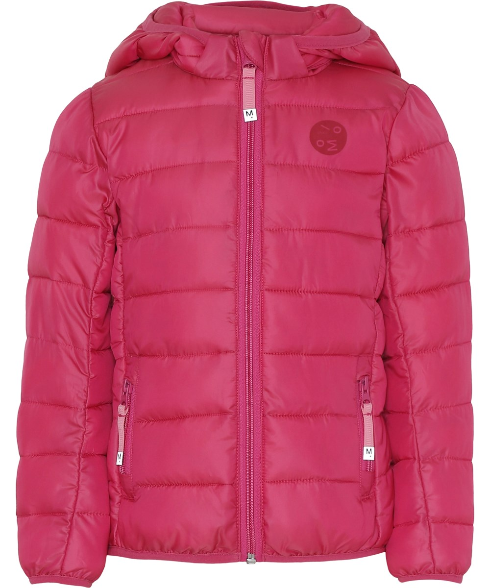 Herb - Disco Pink - Pink winter jacket with hood.