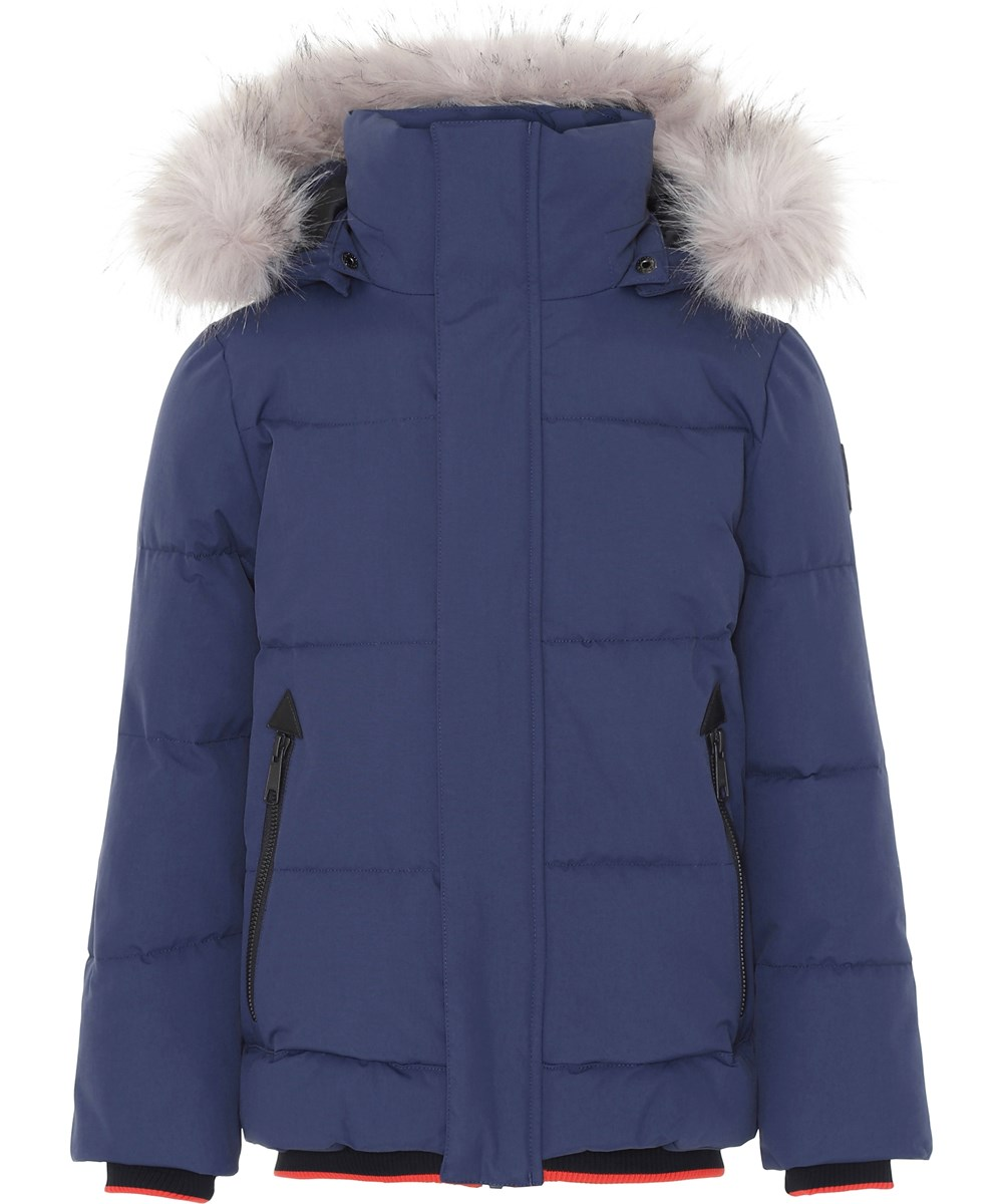 Herbert - Universe - Dark blue winter jacket with faux fur.
