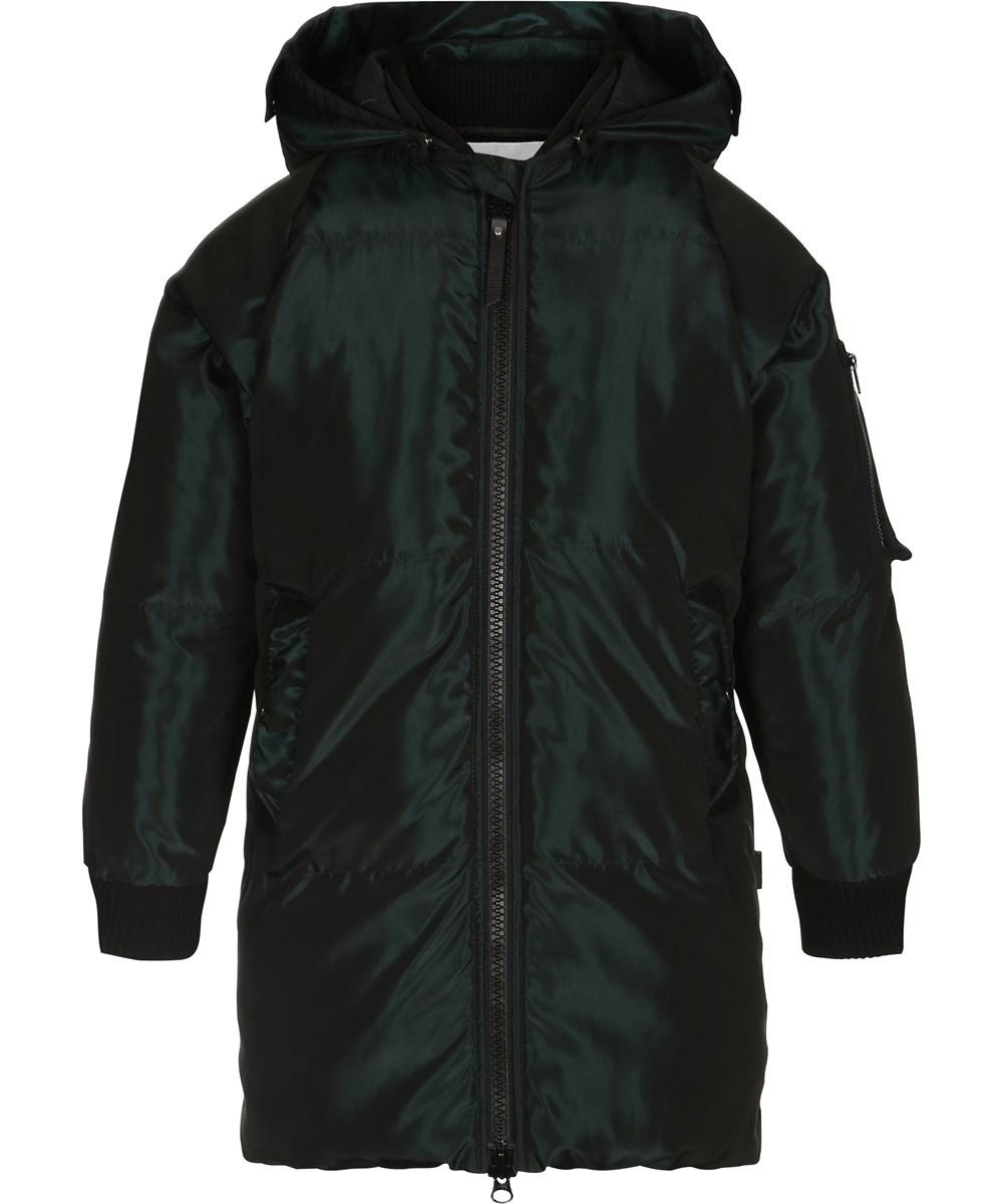 Hermione - Green Gables - Long, shiny green jacket - molo