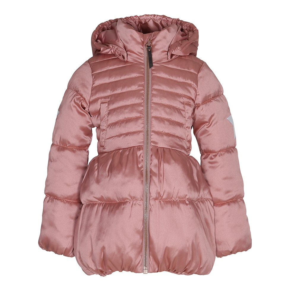 Hestia - Ash Rose - Feminine winter jacket in metallic rose colour