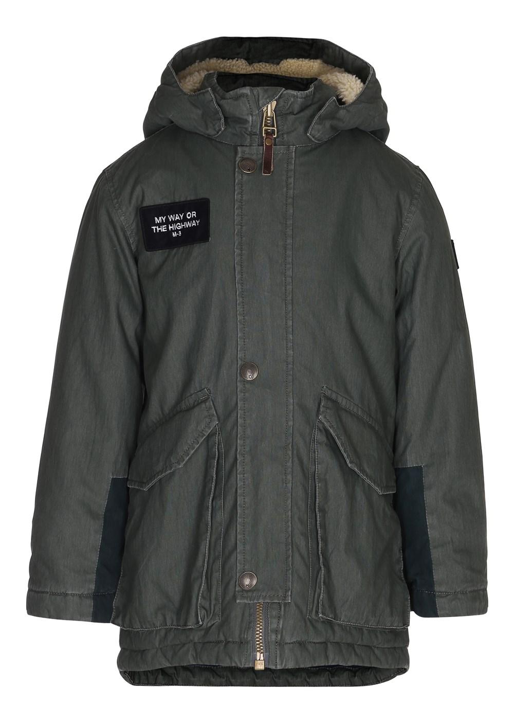 Hewson - Deep Silver Pine - Hewson parka jacket - Deep Silver Pine - Molo
