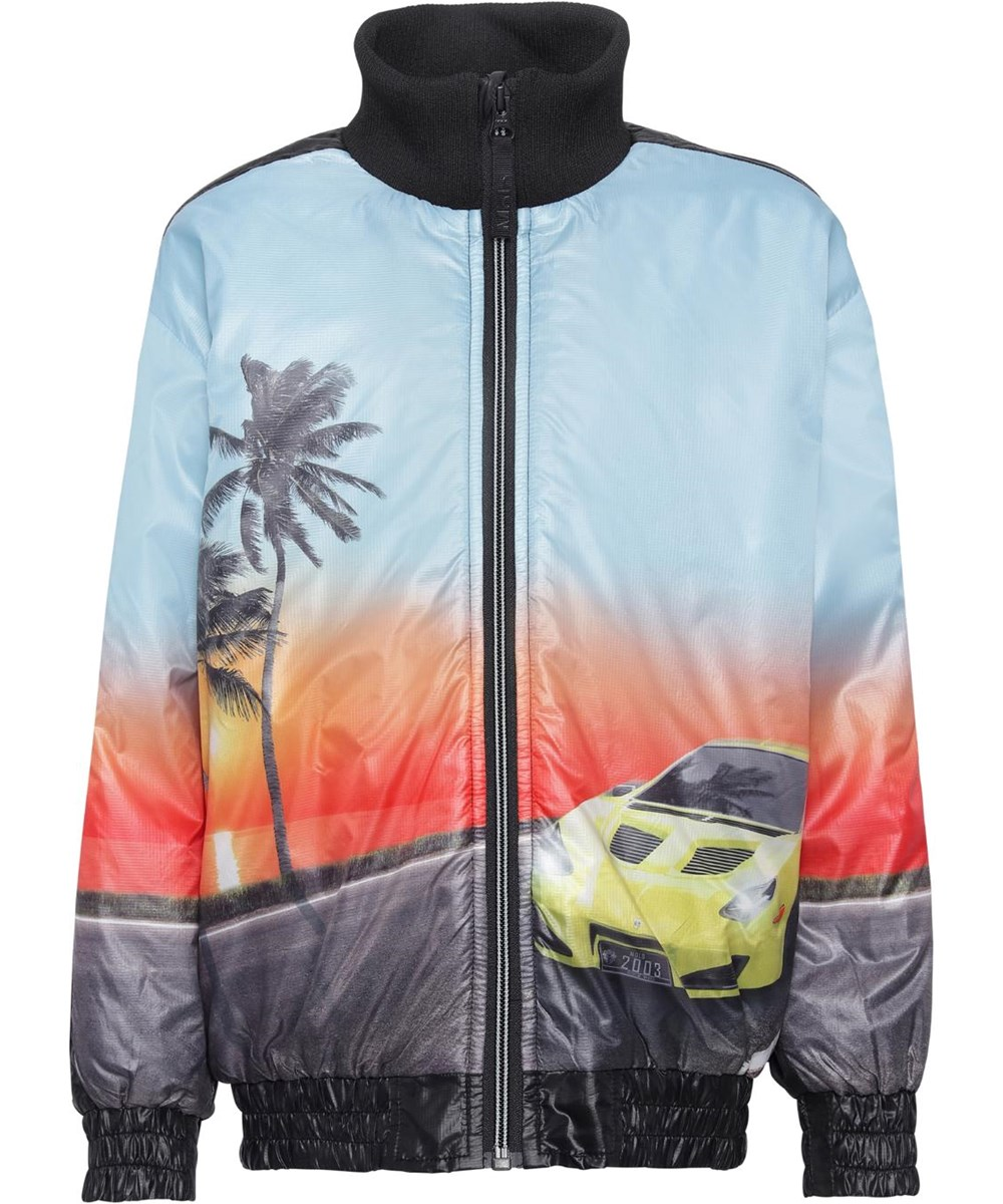 Higer - Ocean Drive - Bomber jacket with print of car and sunset