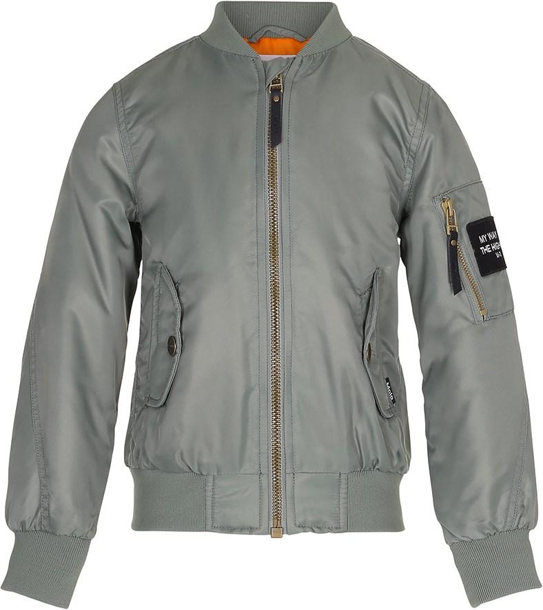 Hiker - Sea Spray - Sporty green bomber jacket