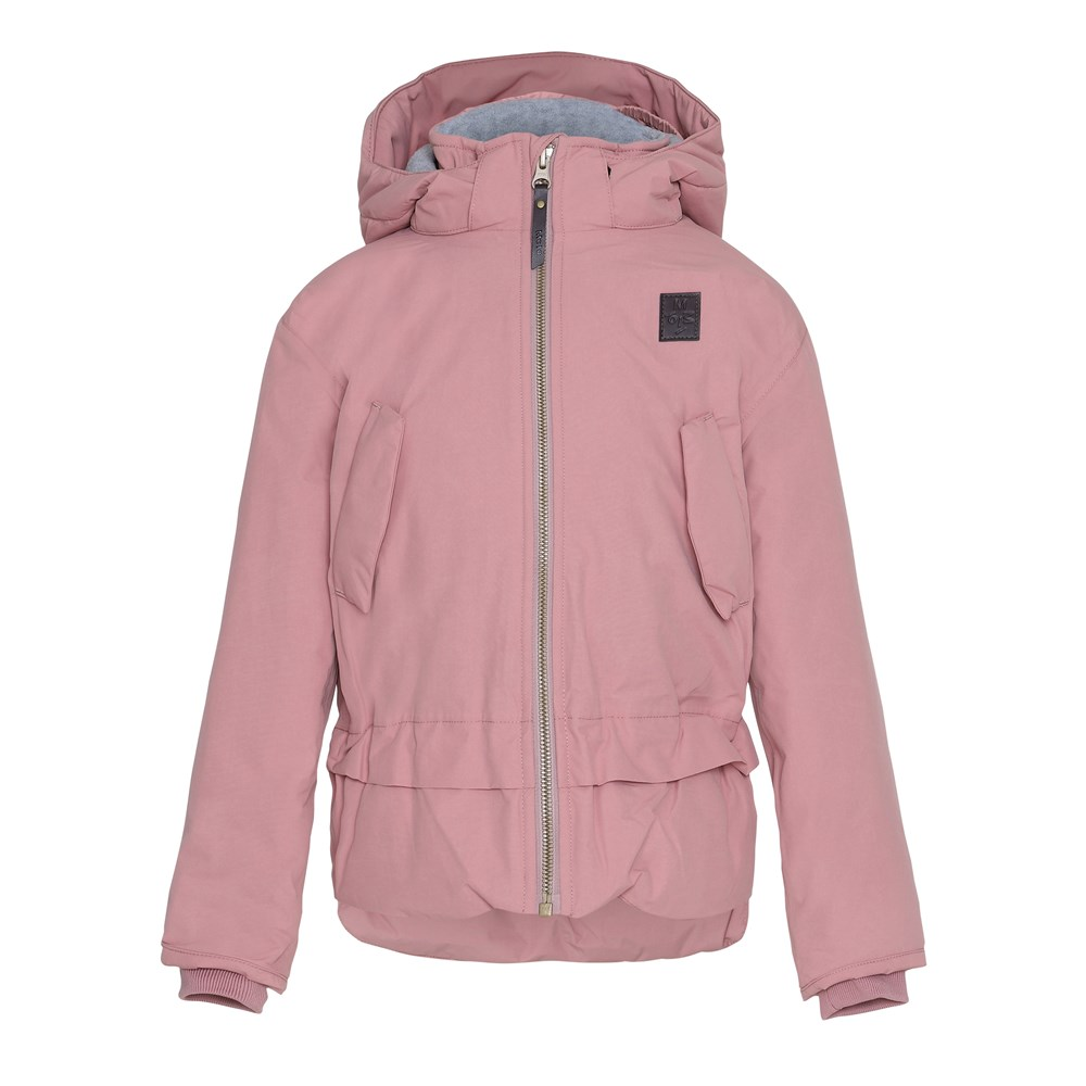 Hira - Ash Rose - Dark rose coloured, lined winter jacket with fleece