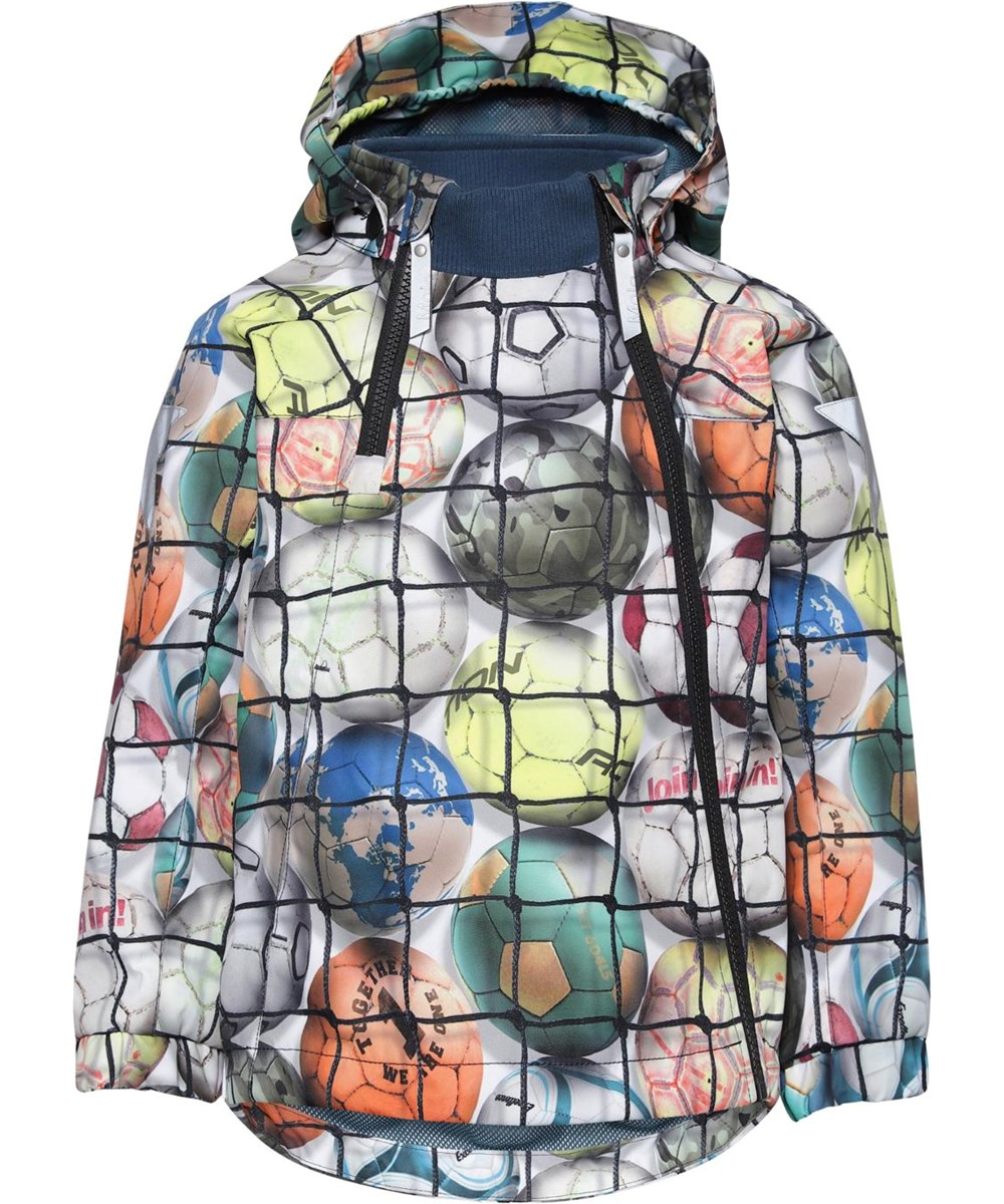 Hopla - Footballs - Lightweight, waterproof jacket with floral print