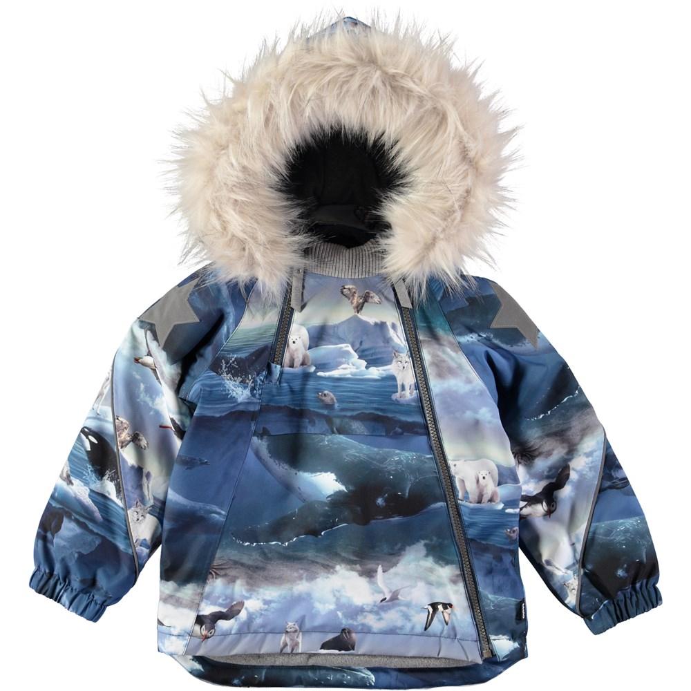 Hopla fur - Arctic Landscape - Cool and functional winter jacket with digital arctic landscape print