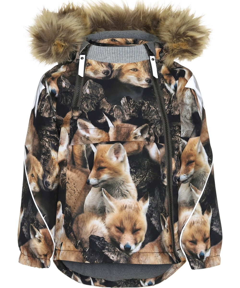 Hopla Fur - Fox Camo - Winter jacket with foxes.