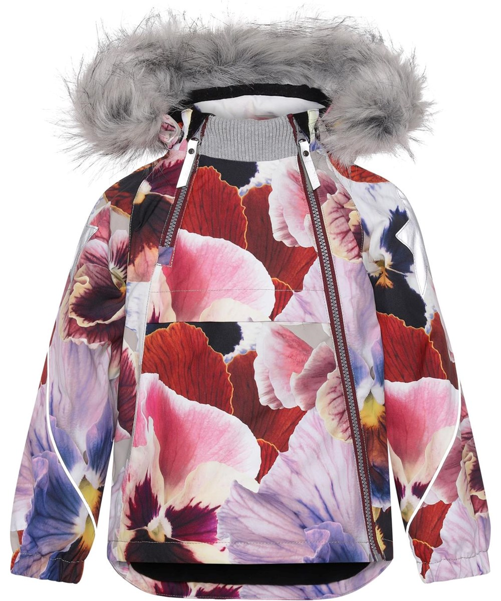 Hopla Fur - Giant Floral - Recycled winter jacket with fur and flower print