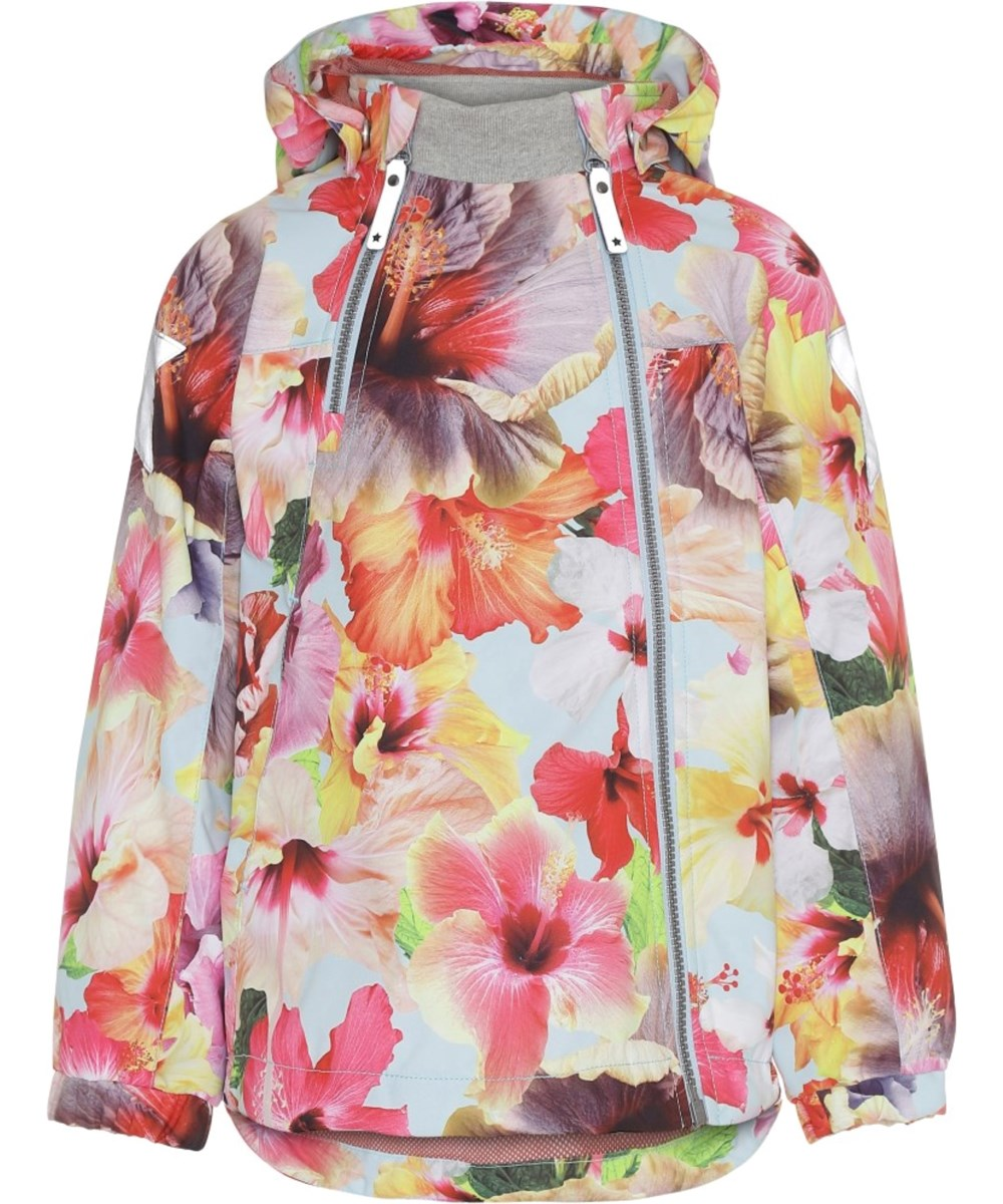 Hopla - Hibiscus Dream - Waterproof jacket with floral print