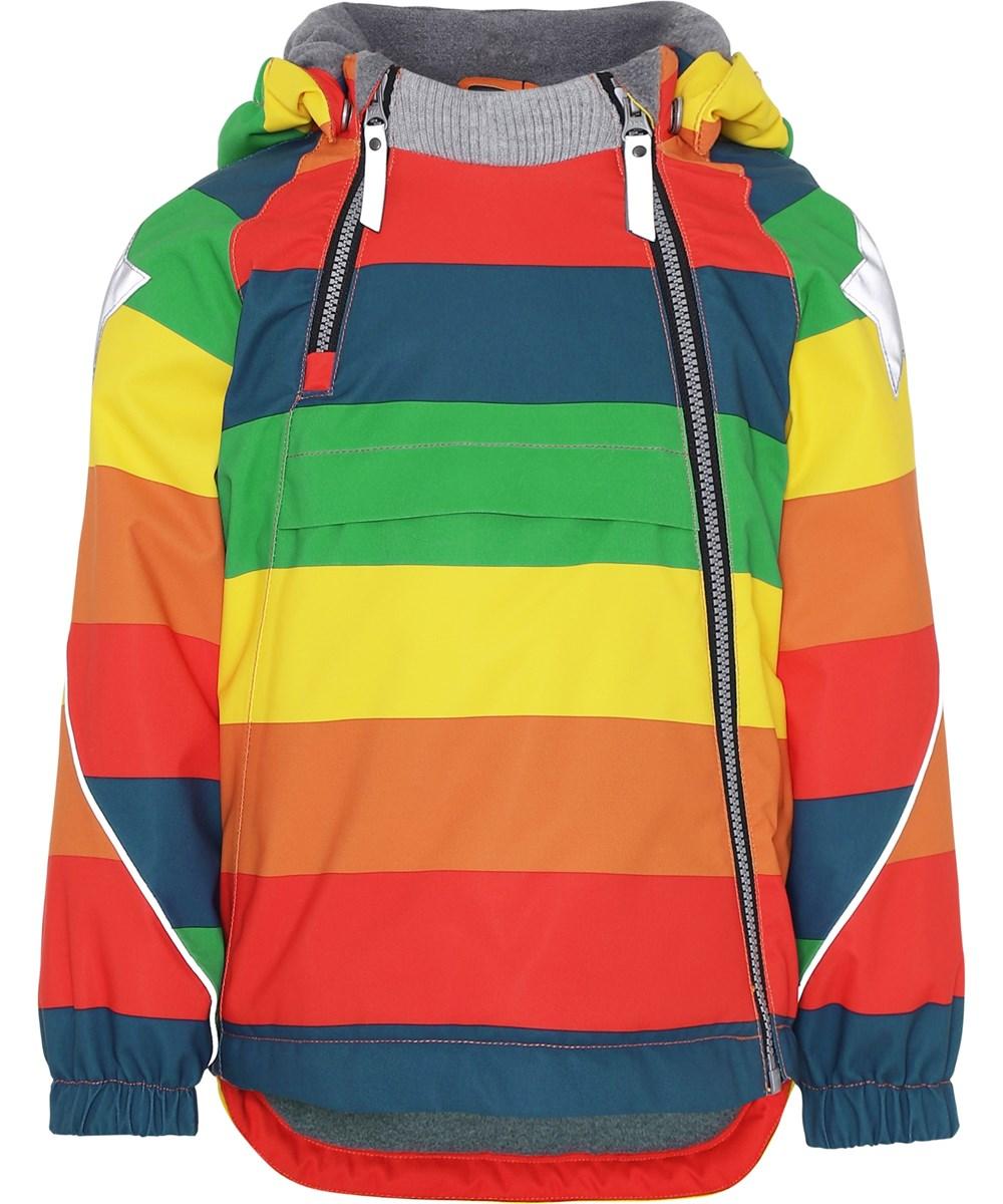 Hopla - Rainbow - Winter jacket in rainbow colours.