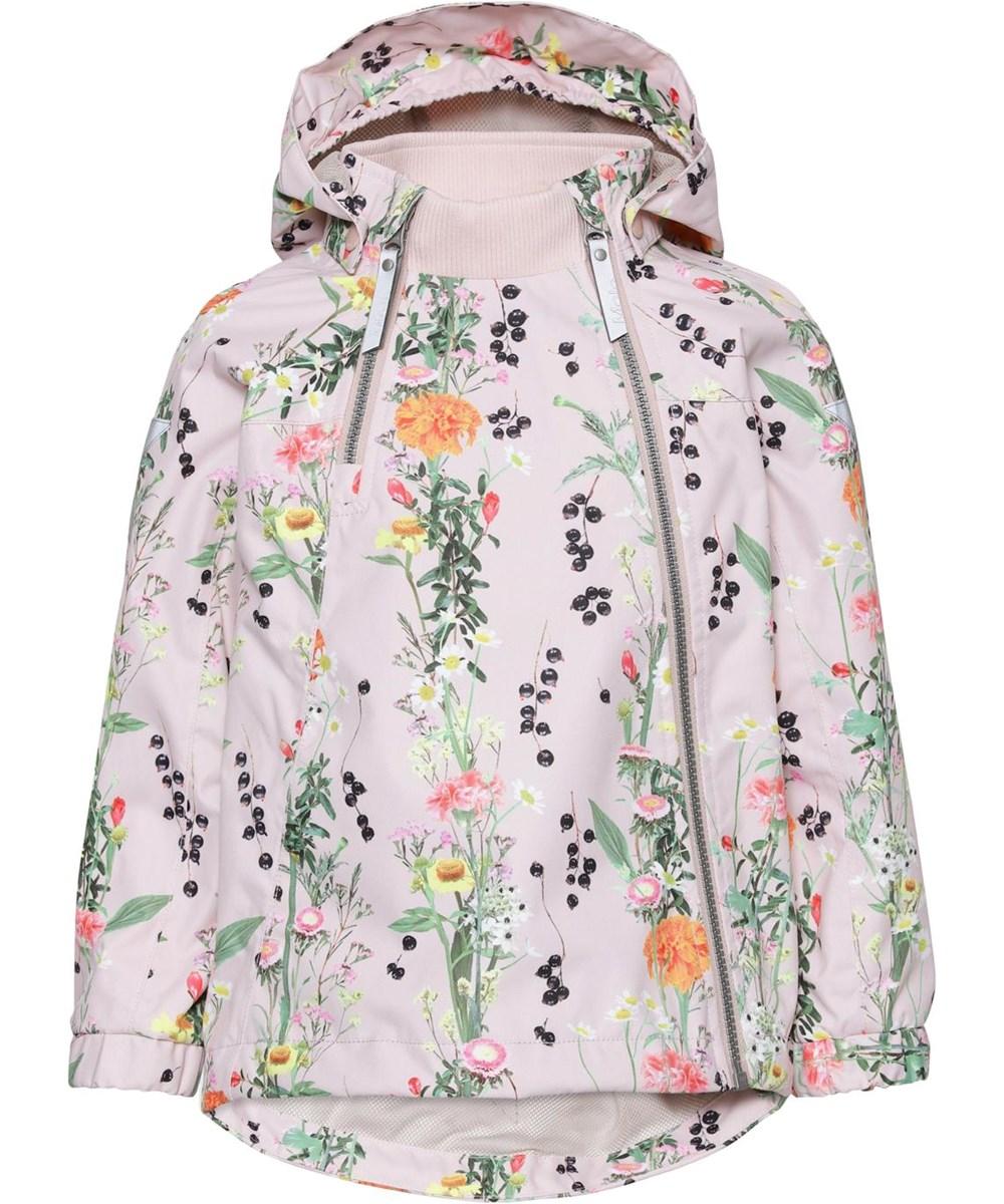 Hopla - Vertical Flowers - Lightweight, waterproof jacket with floral print