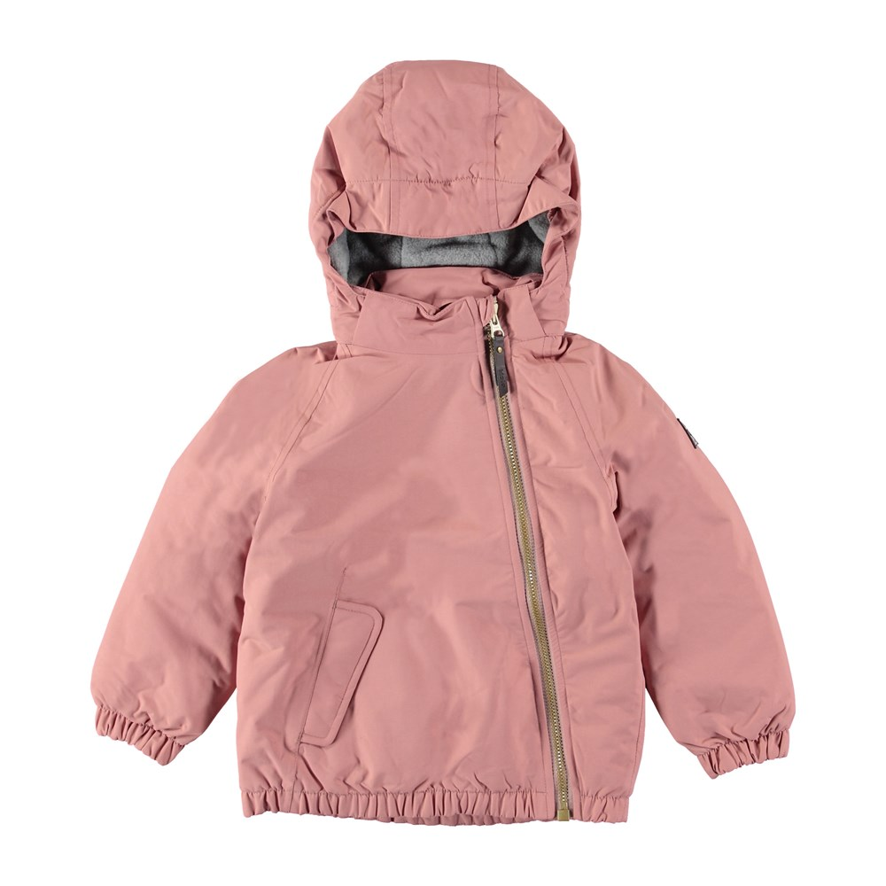Hoshi - Ash Rose - Sporty, lined winter jacket in dark rose colour