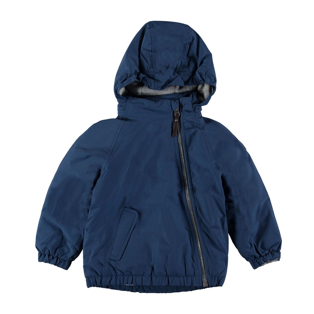 Hoshi - Blue Wing Teal - Sporty, lined winter jacket in blue