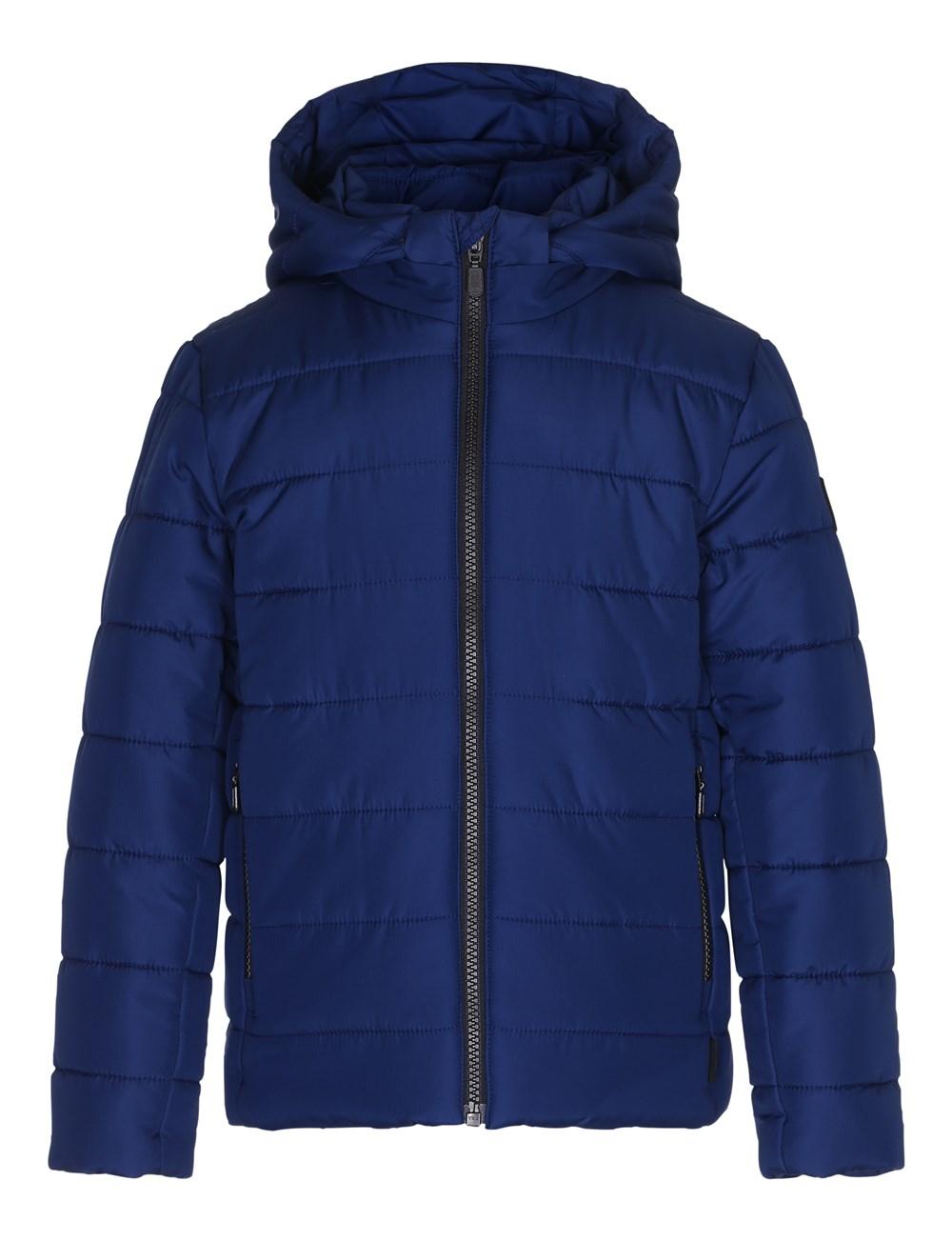 Howl - Estate Blue - Blue jacket with star reflector
