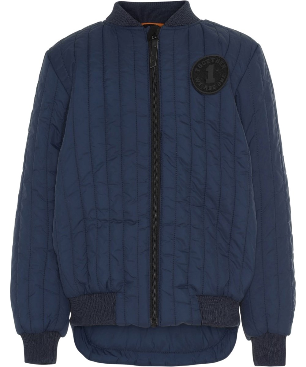 Hudson - Moonlit Ocean - Blue jacket with stitching