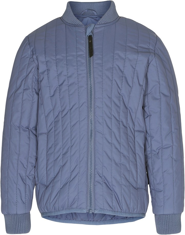 Hugh - Blue Mirage - Simple blue jacket with summer down