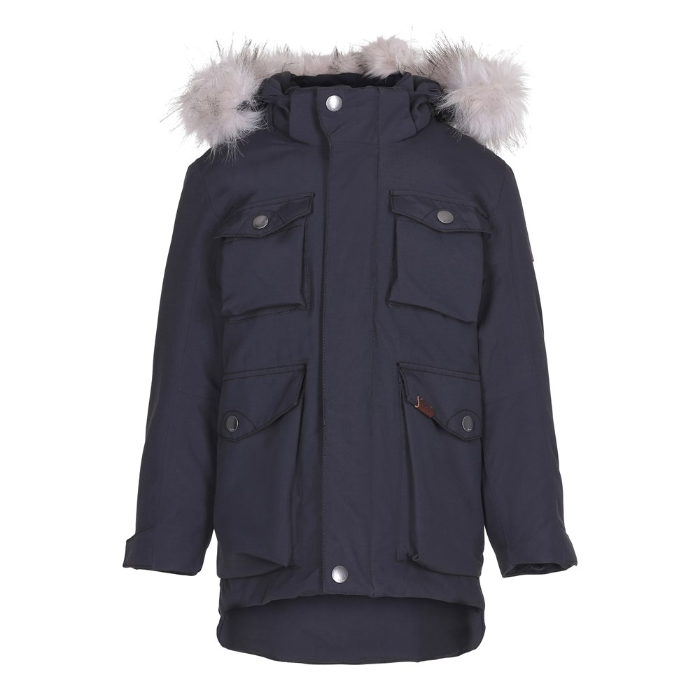 Parker - Very Black - Sporty and functional parka jacket in black