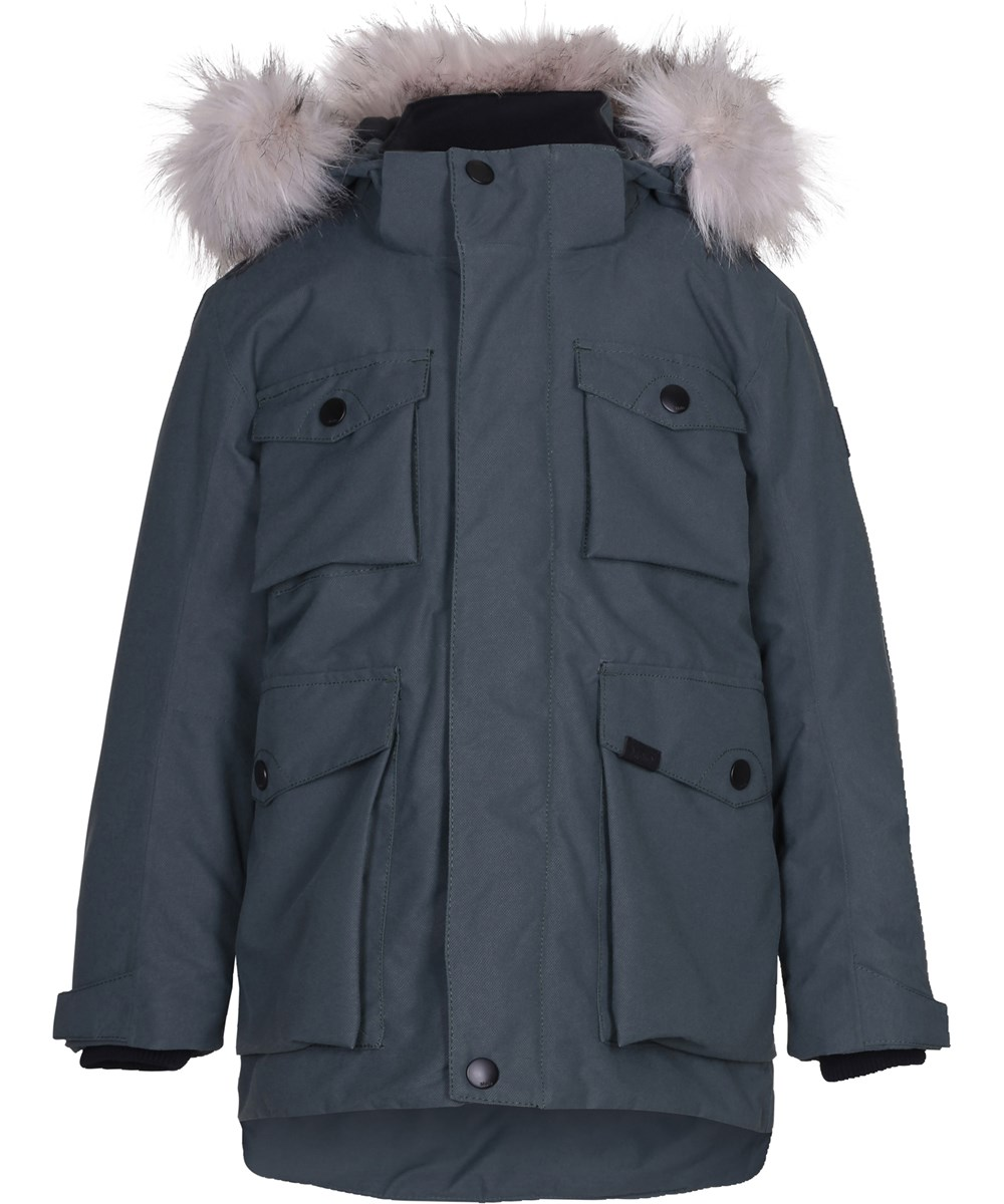 Parker - Pigment Teal - Sporty and functional parka jacket in grey