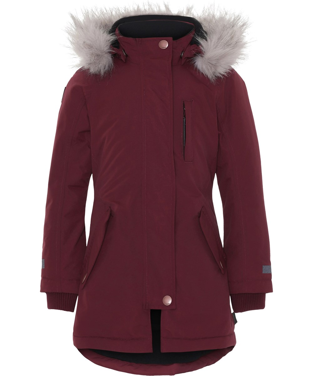 Peace - Carbernet - Boardeux winter jacket with faux fur.