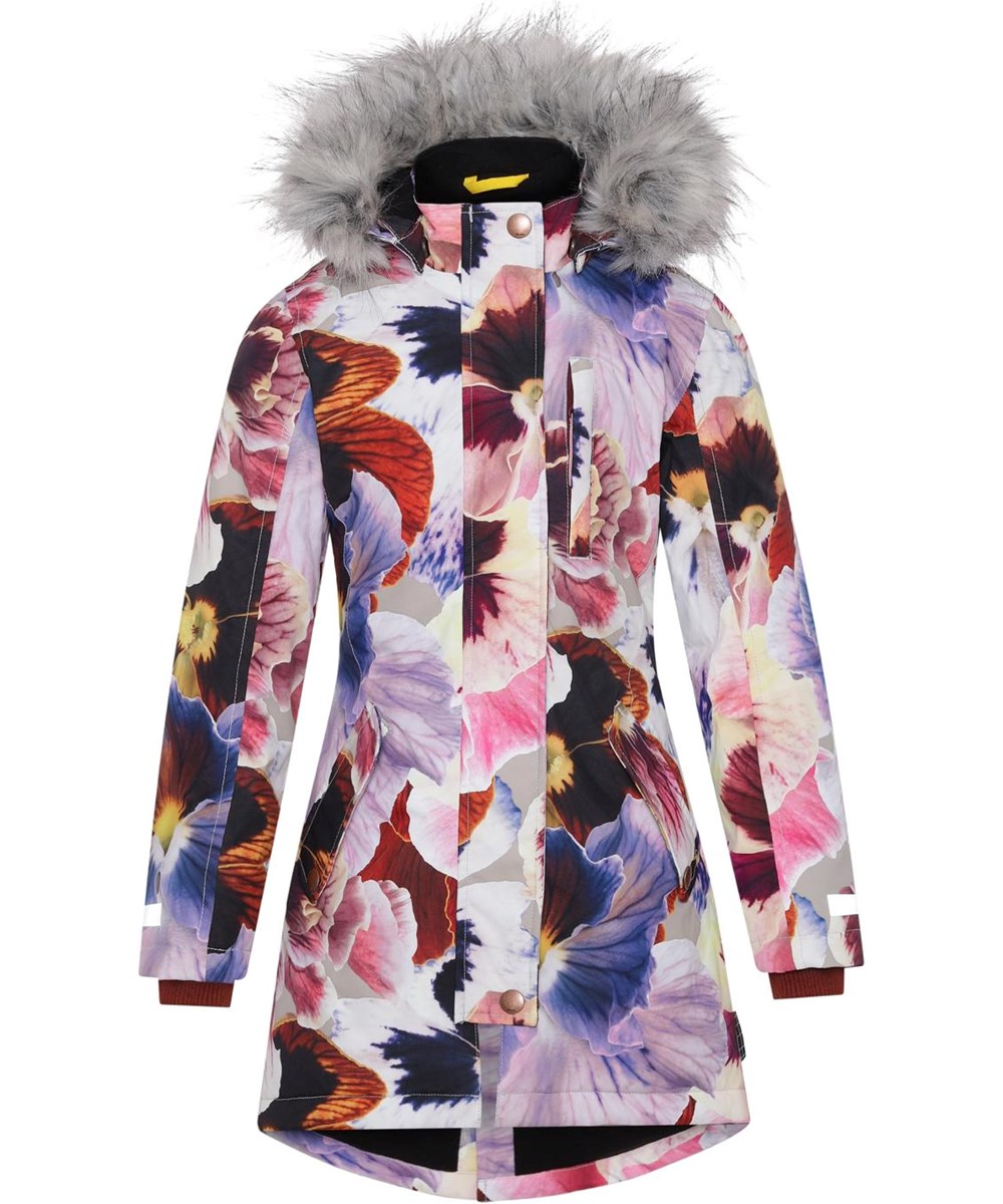 Peace - Giant Floral - Recycled parka with flower print