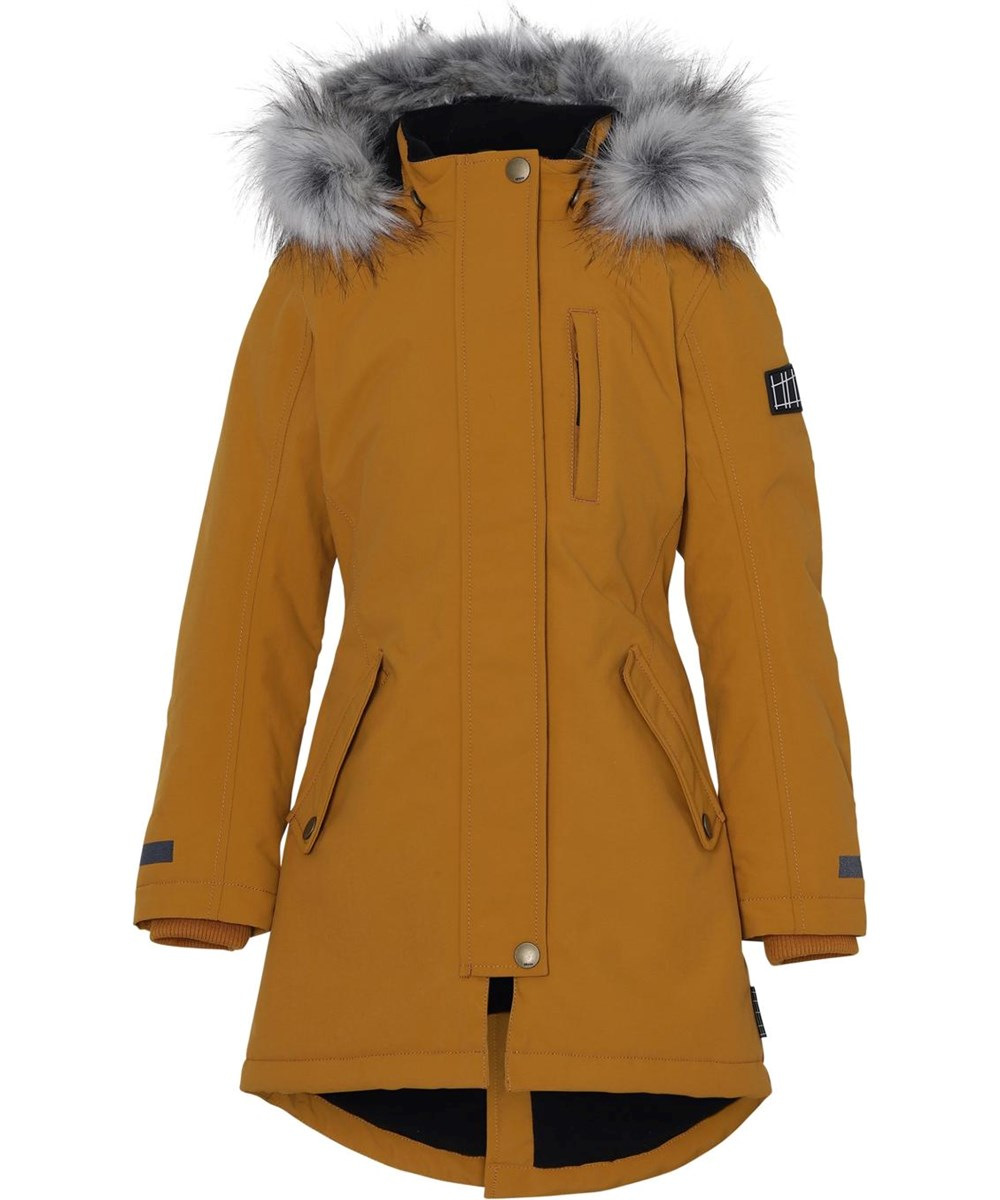 Peace Recycle - Autumn Leaf - Recycled mustard coloured winter parka jacket