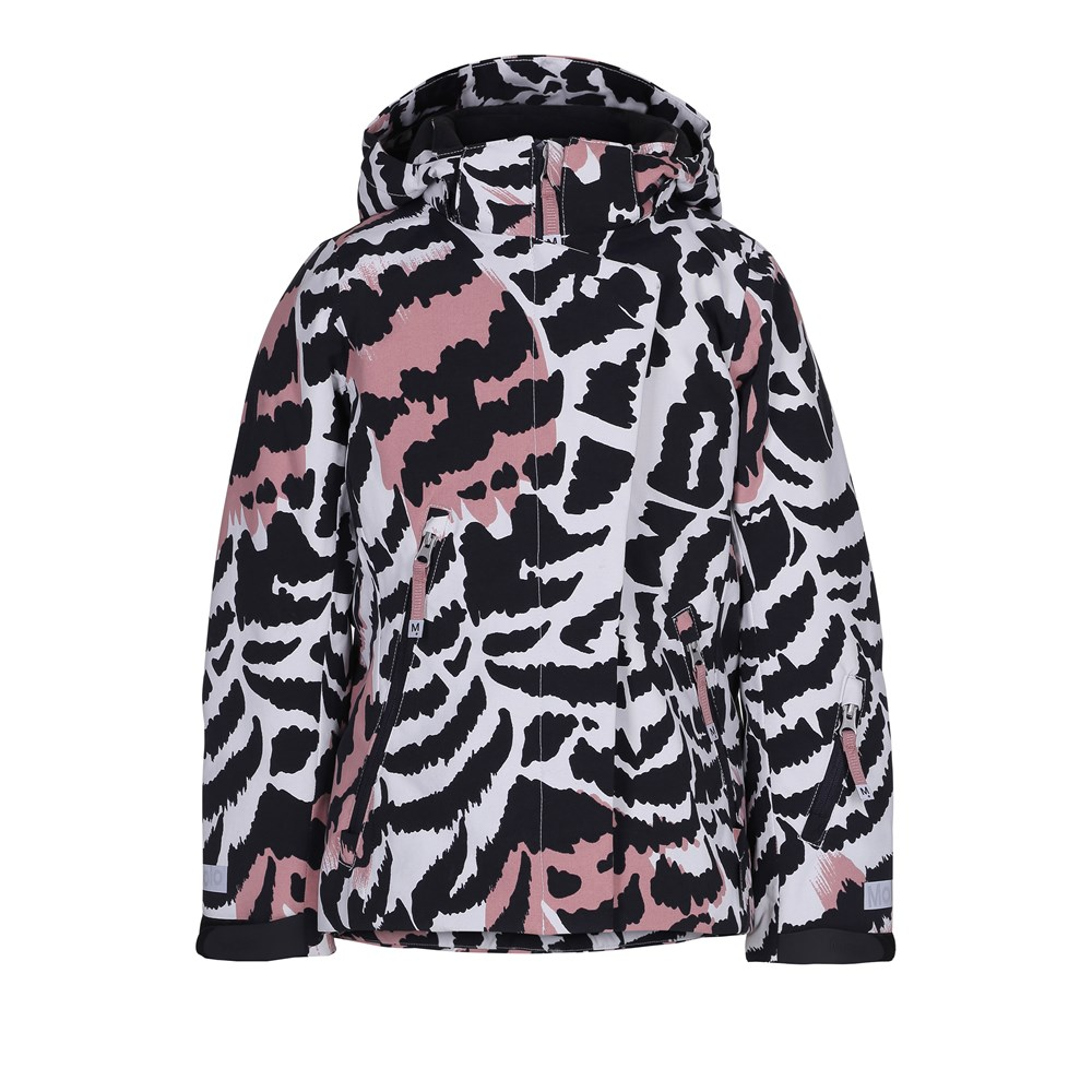Pearson - Graphic Feathers - Feminine and functional ski jacket with digital graphic feather print