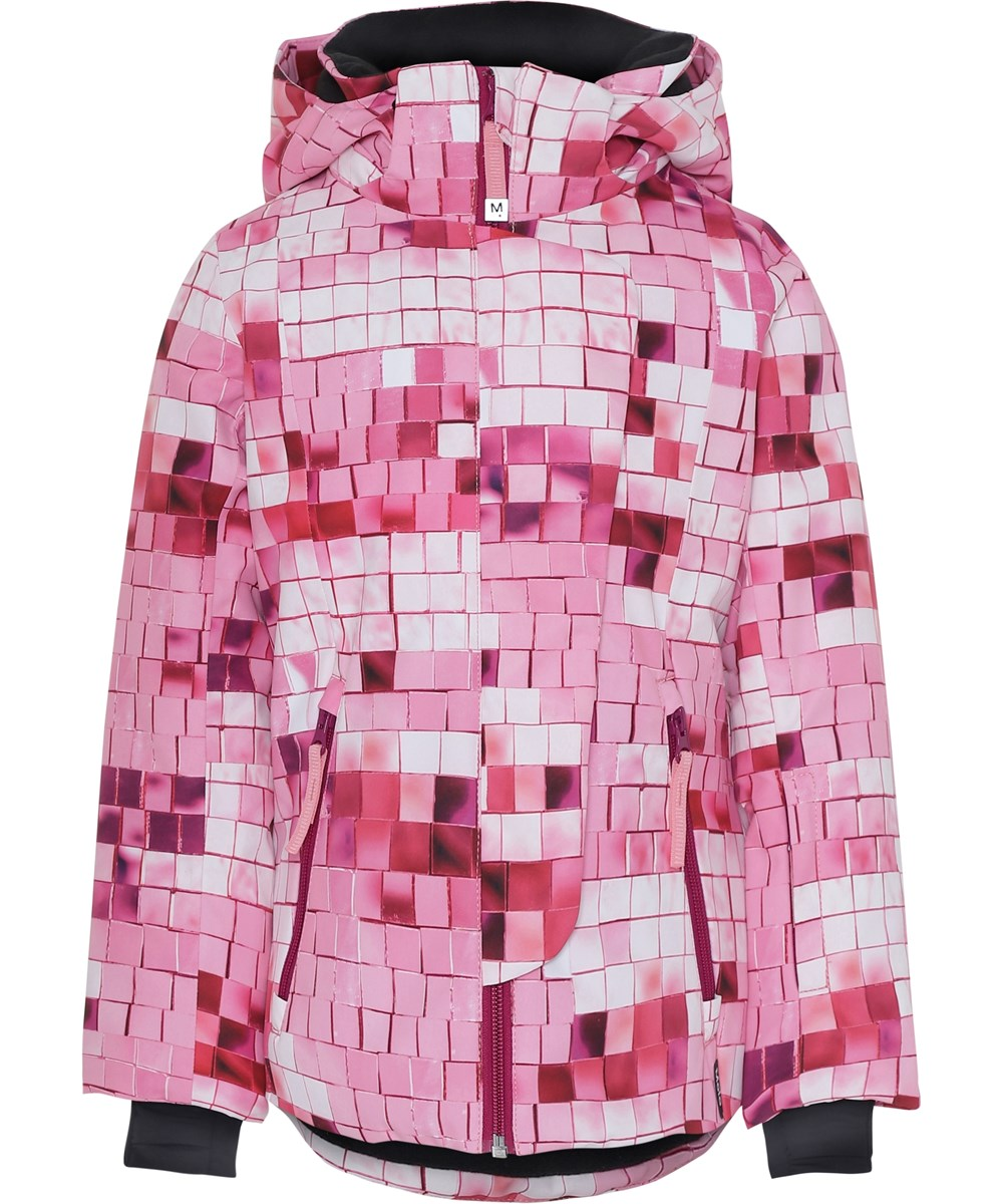 Pearson - Pink Disco - Ski jacket with pink print.