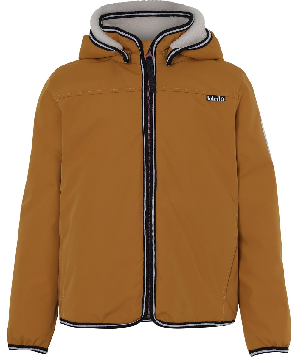 Winner - Autumn Leaf - Lined rain jacket in a mustard colour