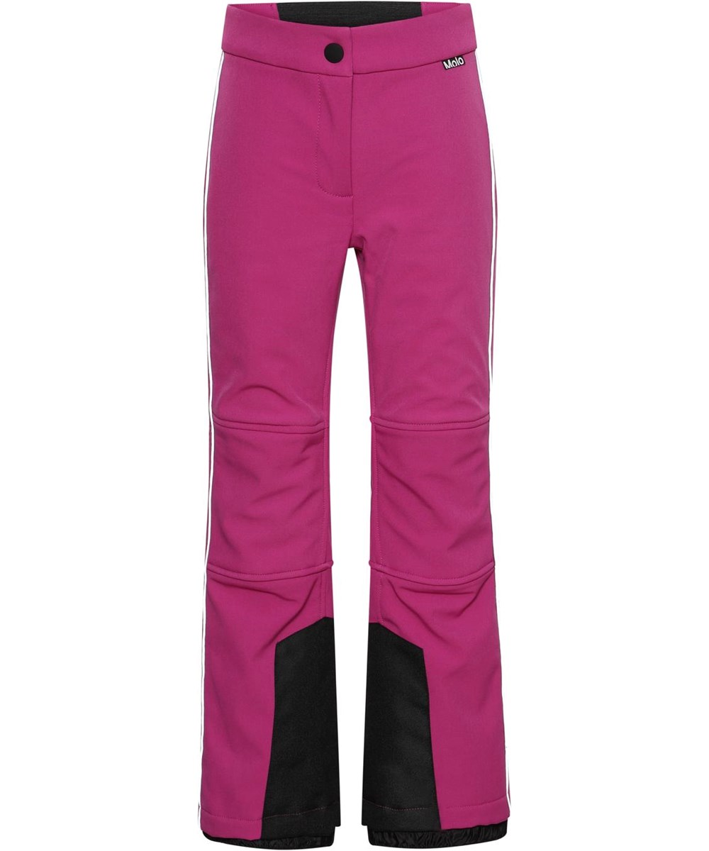 Harlie - Wild Pink - Recycled pink ski trousers with flare