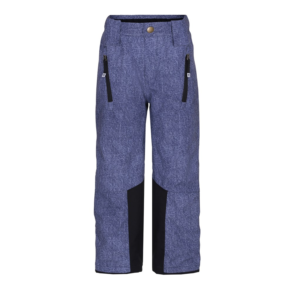 Jump pro - Denim - Functional ski trousers with fleece lining and digital denim print