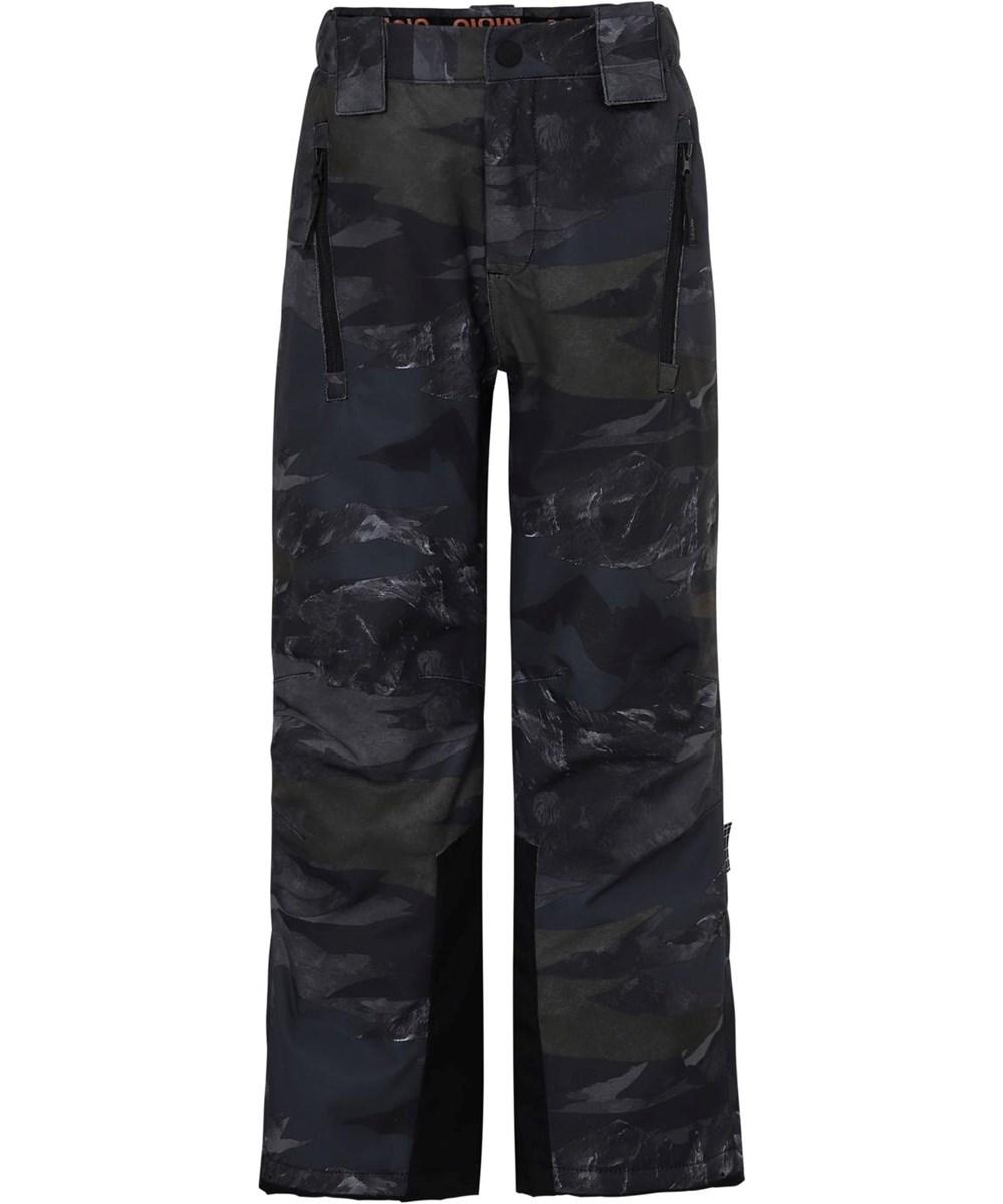 Jump pro - Mountain Camo - Waterproof ski trousers in camouflage print