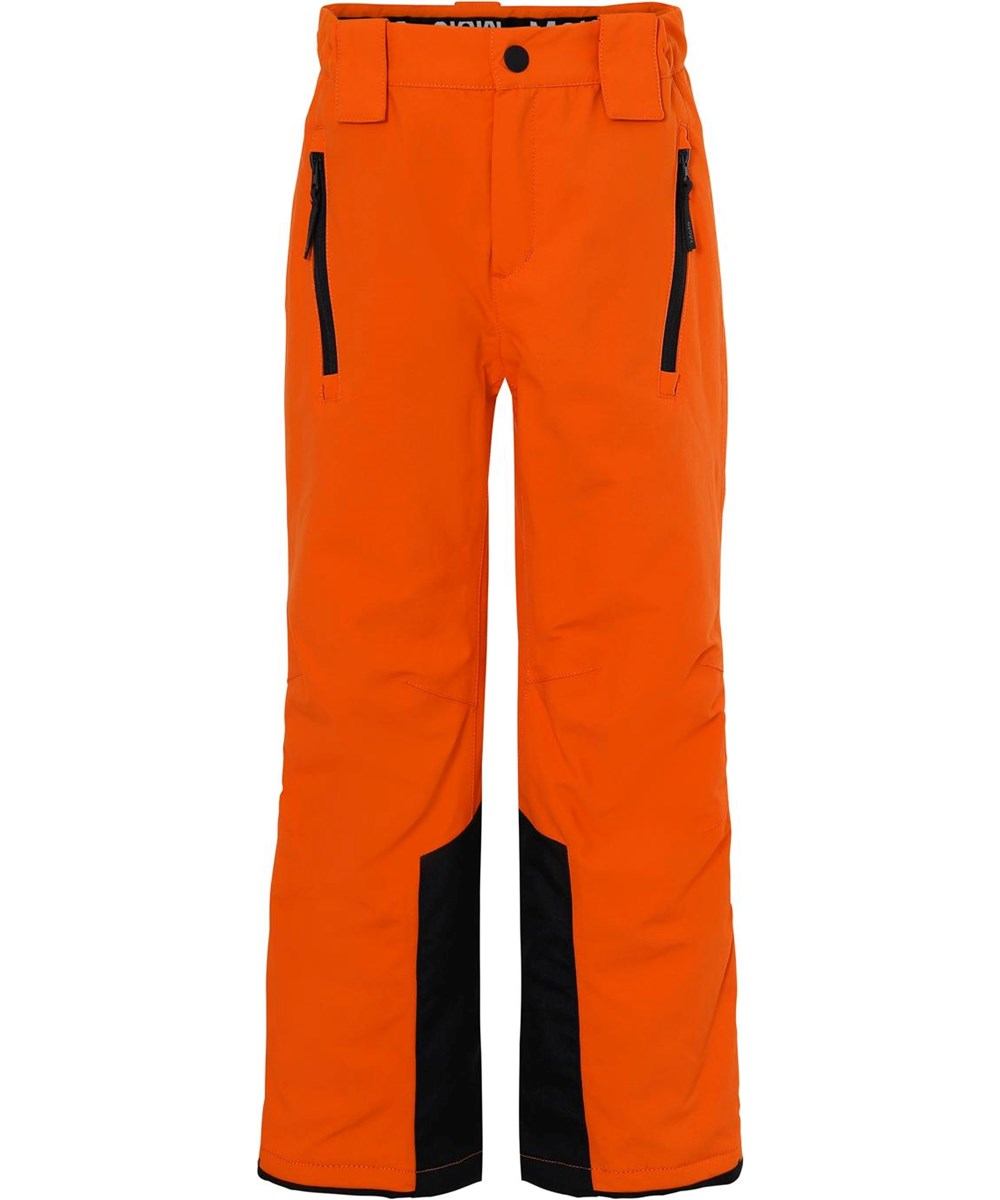 Jump Pro Recycle - Flame - Recycled waterproof ski trousers in orange