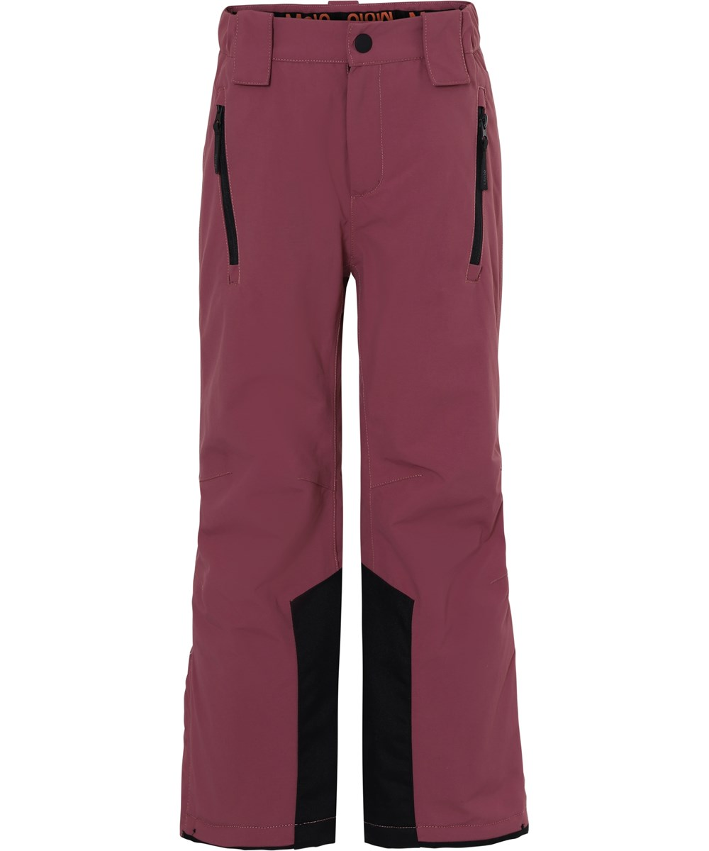 Jump Pro Recycle - Maroon - Recycled waterproof ski trousers in bordeaux