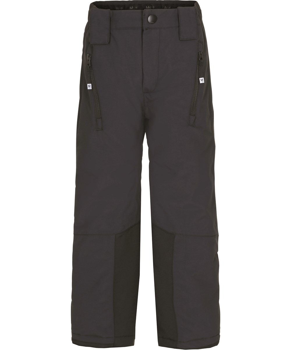 Jump Pro - Very Black - Black ski trousers with star reflectors.