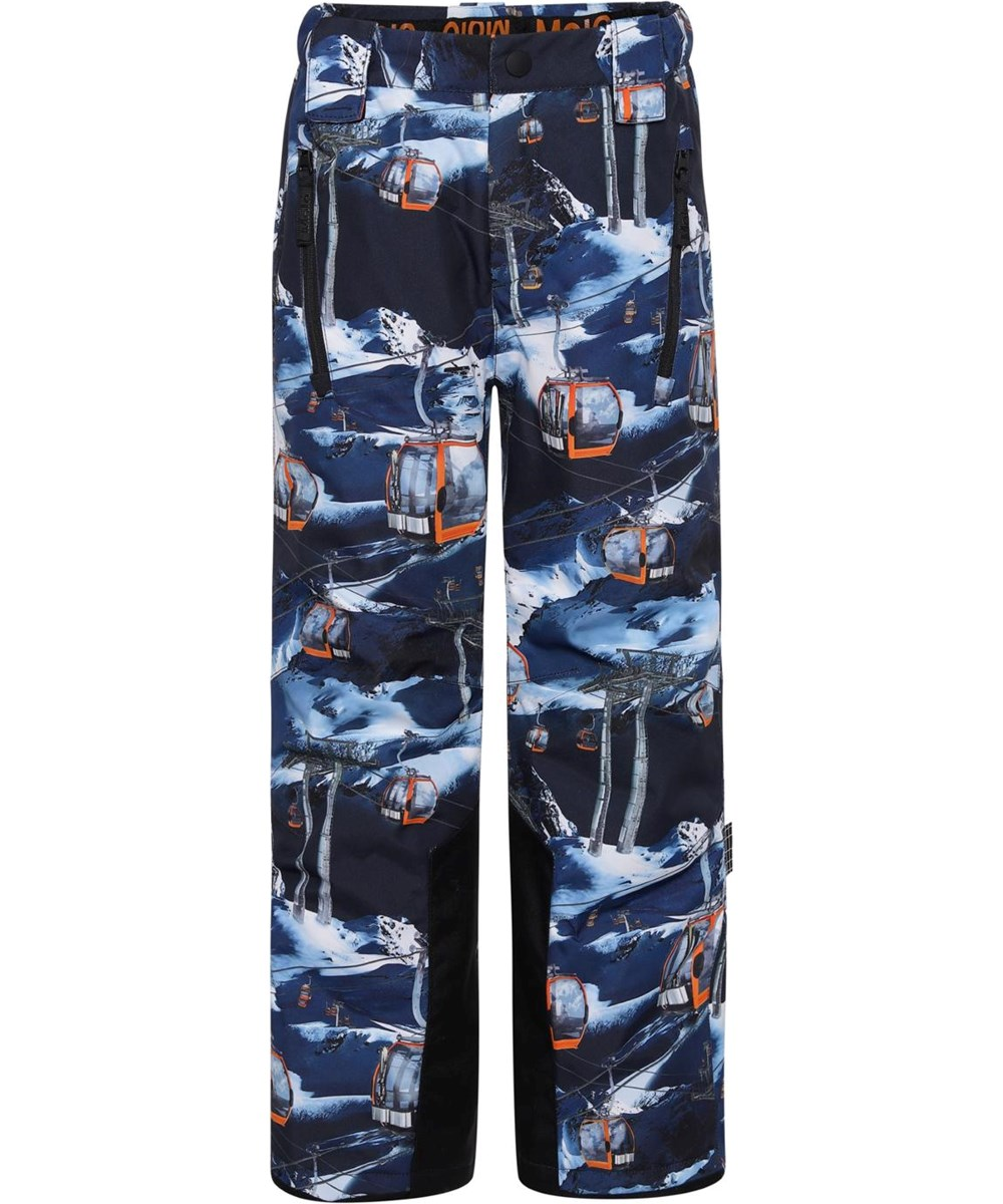 Jump Pro - Way Up - Recycled ski trousers in blue with ski lift