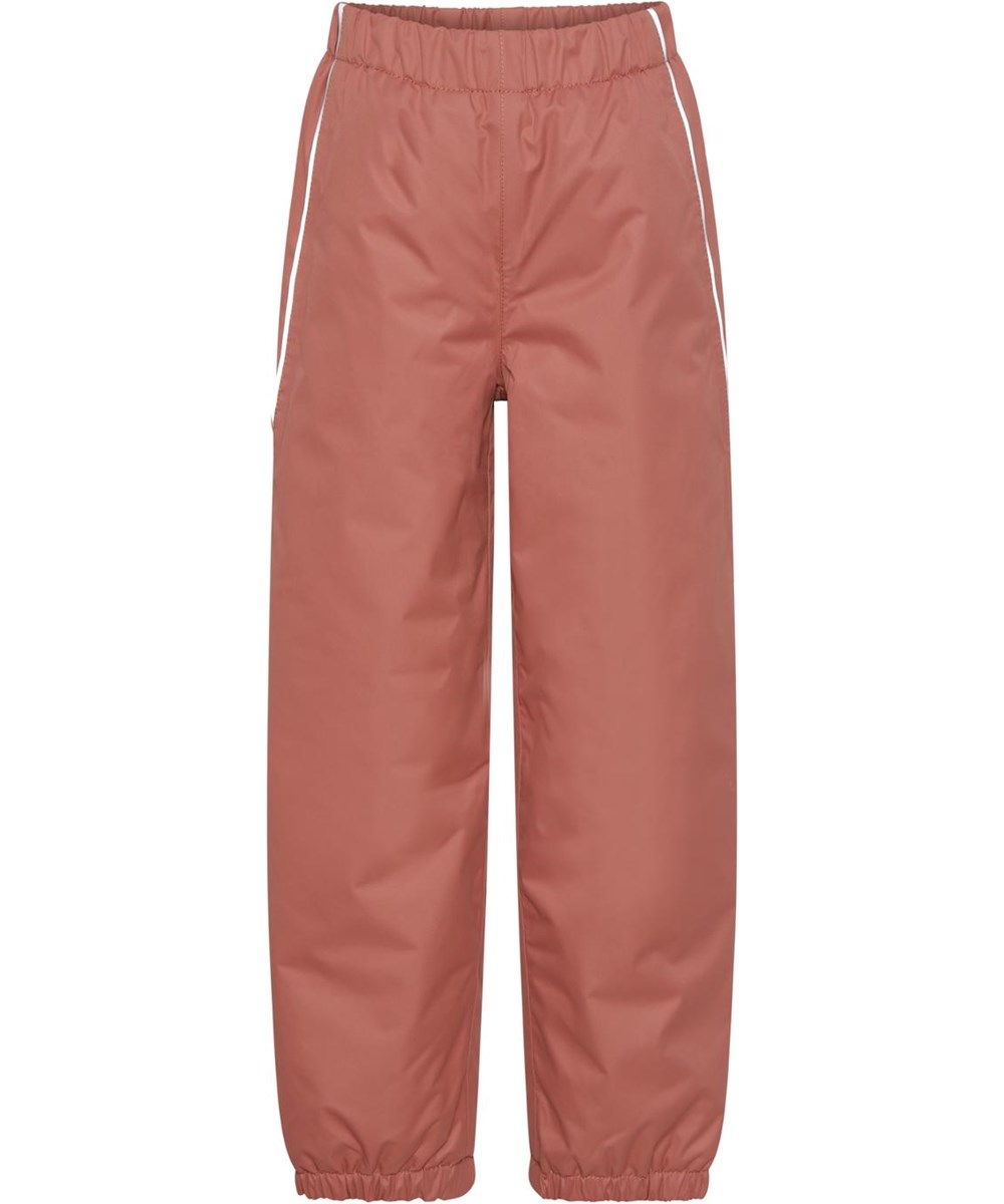Paxton - Maple - Rosa recycled rain trousers