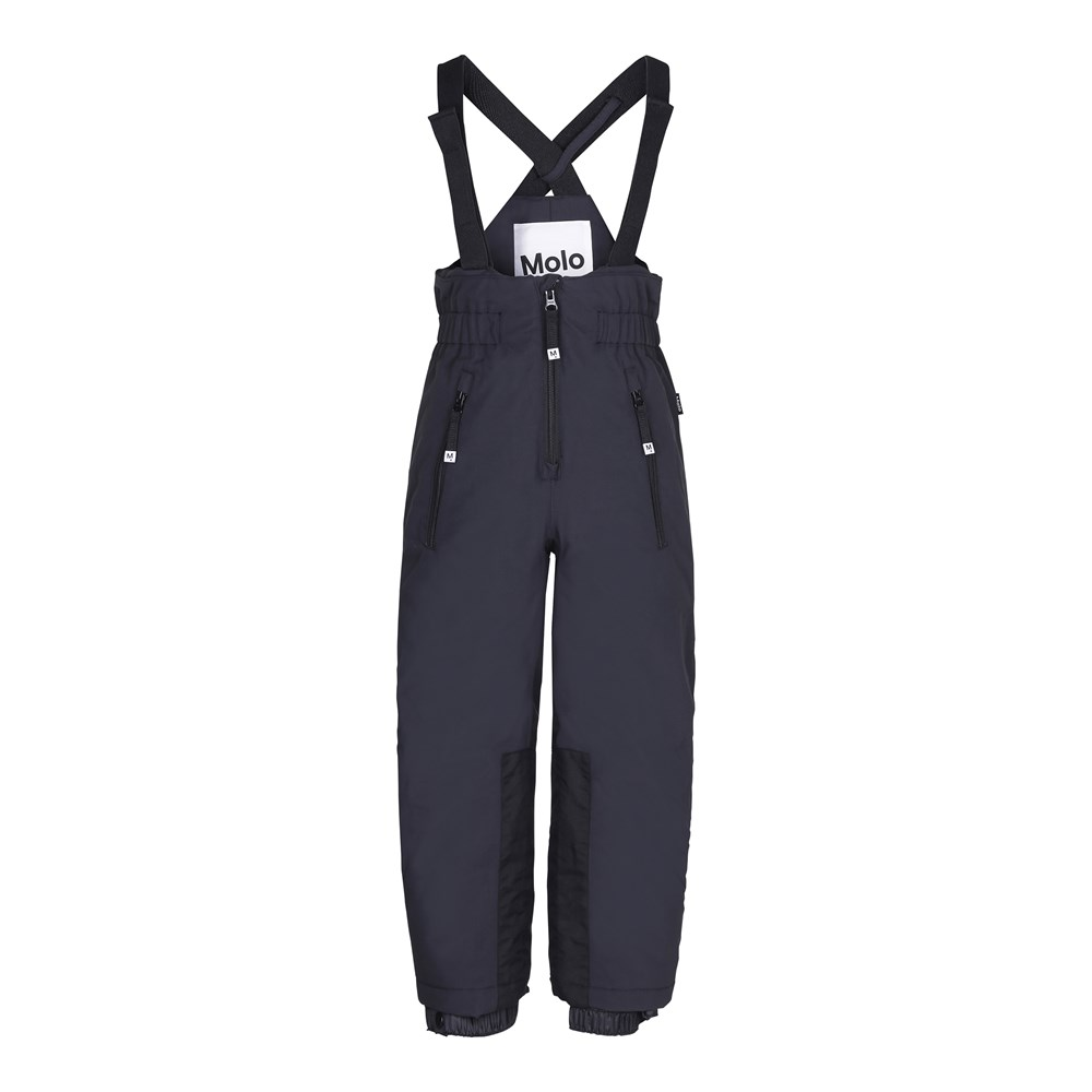 Play pro - Very Black - Functional, black ski trousers with high waist and braces