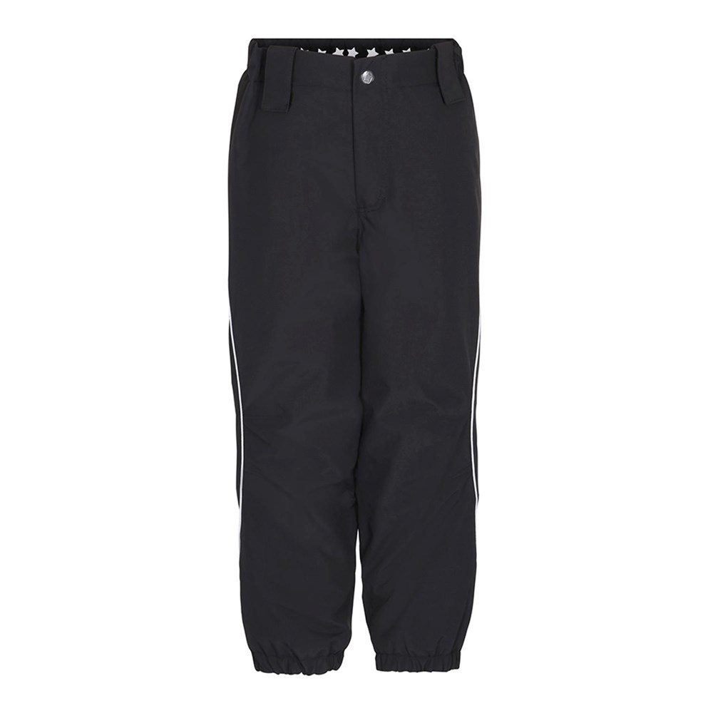 Pollux Active - Very Black - Functional, lined, black ski trousers