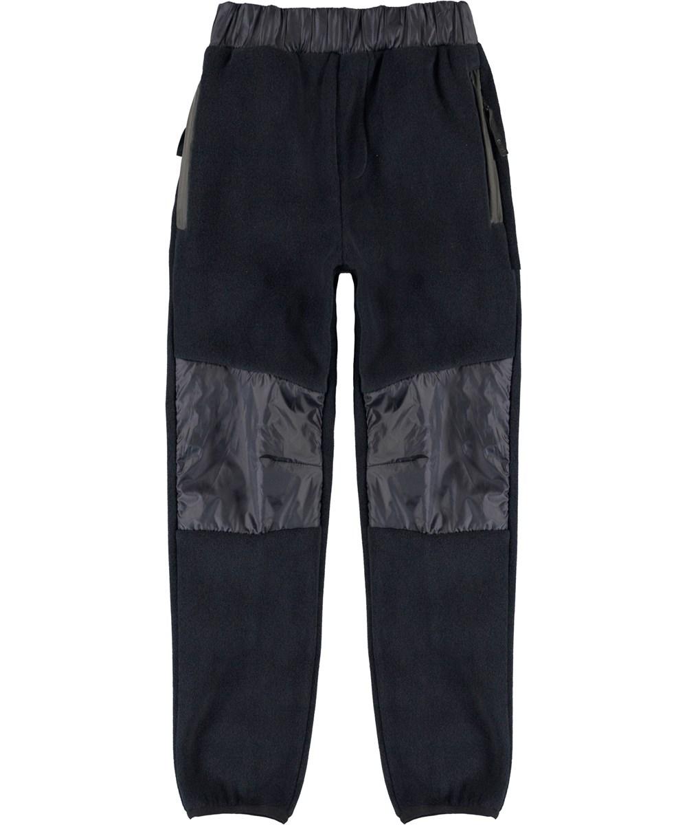 Ubaldo - Dark Navy - Fleece trousers in dark blue